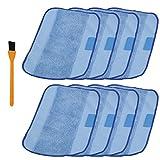hongfa húmeda mopa de microfibra paño de limpieza almohadillas para orejas de repuesto para iRobot Braava 380380T 3213205200C 5200de menta 42004205, Azul, 8