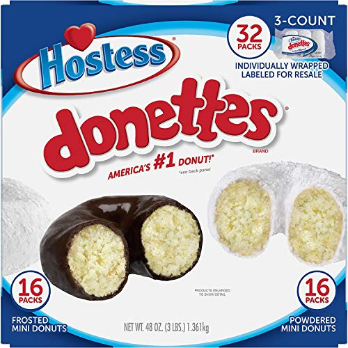 (Hostess Mini Powered Donettes and Frosted Chocolate Mini Donettes (1.5 oz., 32 ct.))