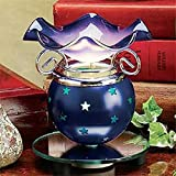 StealStreet SS-A-59254 Electric Aroma Oil Burner, Blue Star