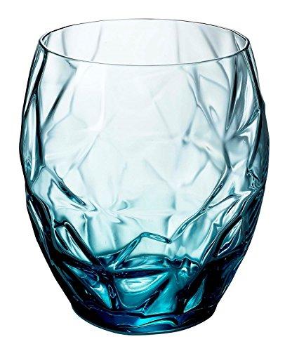 Luigi Bormioli Prezioso Double Old Fashioned Glasses (Set of 4), 17 oz, Blue