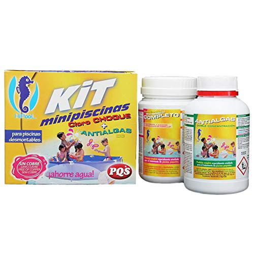 🥇 PQS-1617028 kit mini piscinas cloro+antialgas