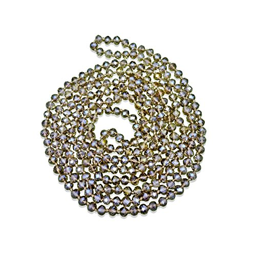 MGR MY GEMS ROCK! BjB 80-inch Long Endless Infinity Beaded Statement Crystal Necklace. - Gorgeous Beaded Crystal
