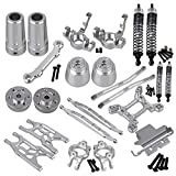 Mxfans Silver Aluminum Alloy Accessories Upgrade Parts for RC 1:10 AXIAL YETI Rock Racer 90026 Racing Climbing Rock Crawler Pack of 23