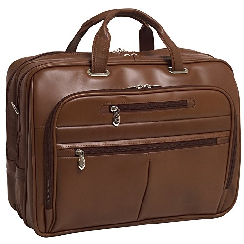 McKleinUSA ROCKFORD 86515 Brown Leather 17'' Laptop Case by McKleinUSA