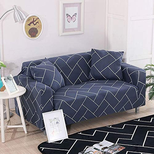 1pcs Flower Leaf Pattern Soft Stretch Sofa Cover Home Decor Spandex Furniture Covers Decoration Covering Hotel Slipcover 013   D, Four seat