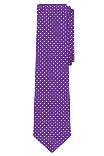 Jacob Alexander Polka Dot Print Boys Regular Polka Dotted Tie - Purple