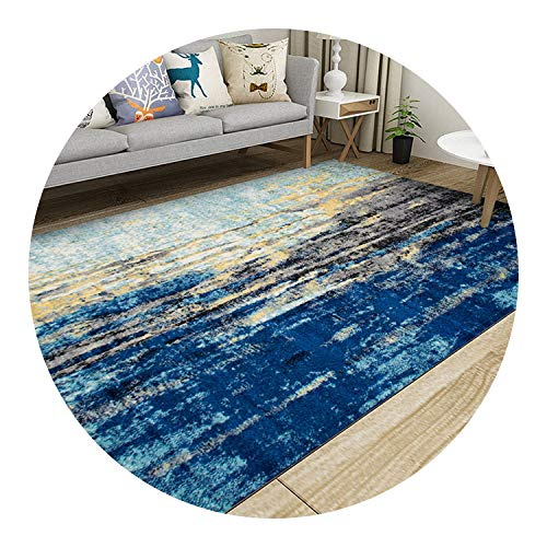 Nordic Style Geometric Pattern Carpet Large Size Living Room Bedroom Tea Table Rugs,21,80x100cm