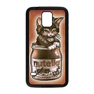 Kitten Loves Nutella Samsung Galaxy S5 Cell Phone Case Black JNCK7C04