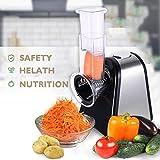 vegetable slicer 5 cone - Mewalker Electric Food Slicer Machine with 5 Cone Blades, Fruits Vegetables Shredder Chopper (150W), US Stock