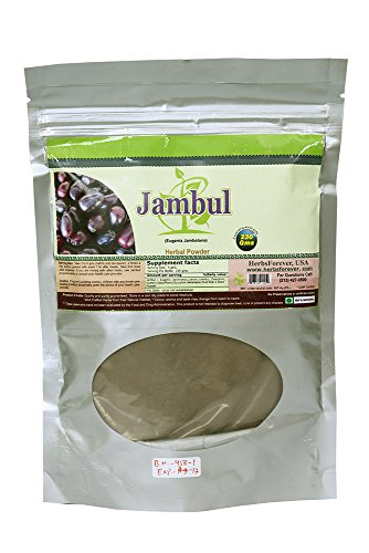 Jambul Powder (Fruit & Seed) (Eugenia Jambolana) 8.11 Oz (Ayurvedic Blood Purifier Formulation) (Wild Crafted from natural habitat) 230 Gms 2x (Optimum Potency)