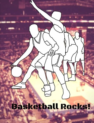 Basketball Rocks!: Track your stats here; Composition Book: College Ruled Lined Pages Book (7.44 x 9.69); Journal, 100 Pages