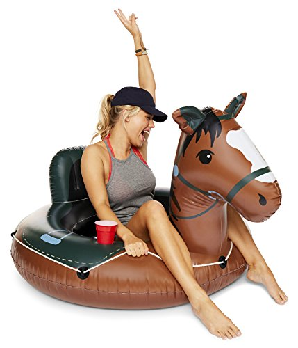 BigMouth Inc Buckin' Bronco Horse River Tube, Giant Inflatable River Tube with Rope, Funny Float -