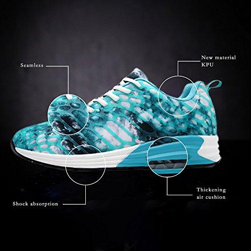 Wonvatu Donna Uomo Traspirante Moda Sneakers Da Corsa Comode Leggere Scarpe Da Ginnastica Blu
