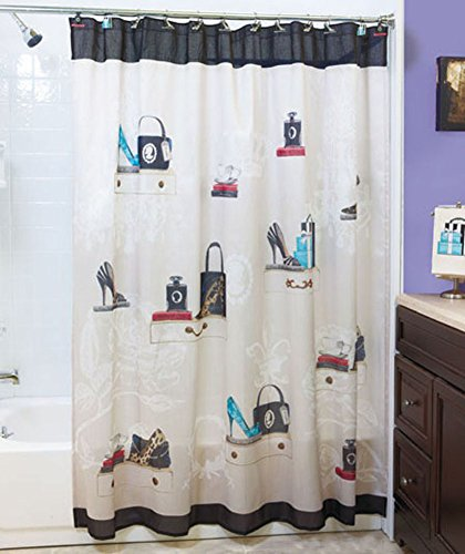 - Unbranded Fashionista Shower Curtain Fabric Vintage
