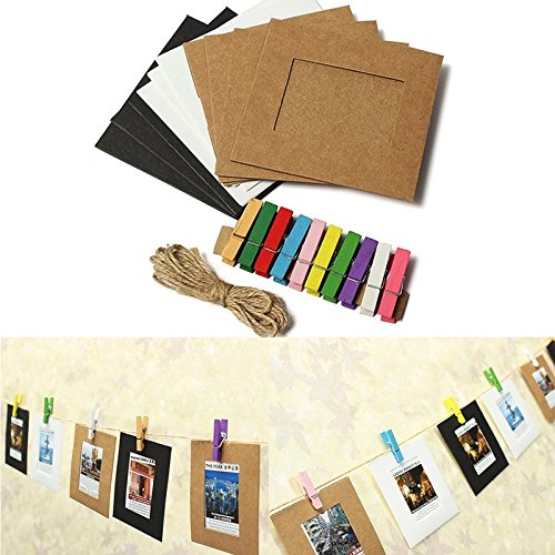 new-memorial-photo-album-galley-10pcs-3-inch-lovely-paper-frame-film-wall-hanging-clips-with-hemp-ro