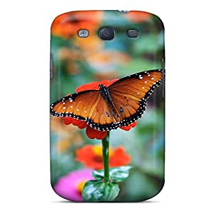 Awesome Case Cover/galaxy S3 Defender Case Cover(butterfly Flower)