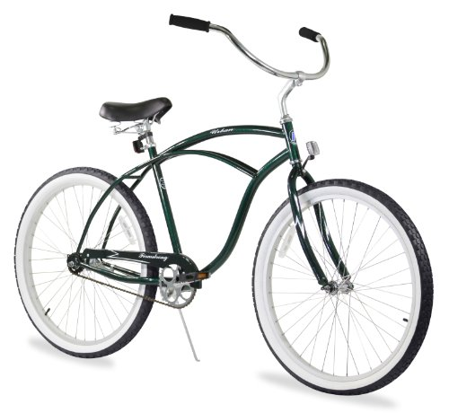 Firmstrong Urban Man Single Speed Beach Cruiser Bicycle, 26-Inch, Emerald Green