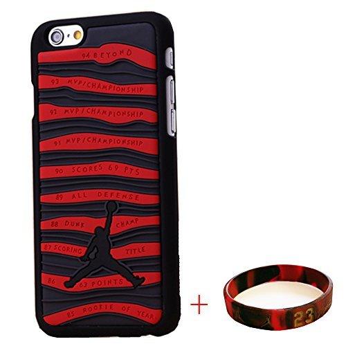 EHIPI iPhone 6 CASE,Shoes Showcase Jordan iPhone 6 CASE,Michael Air Jordan For Apple Iphone 6 Case Cover 3D Sneaker Sole Rubber,Rubber Feels Looks like the Sneaker Sole Thin For Apple Iphone 6 4.7 Case (iPhone 6 Black/Red CASE)