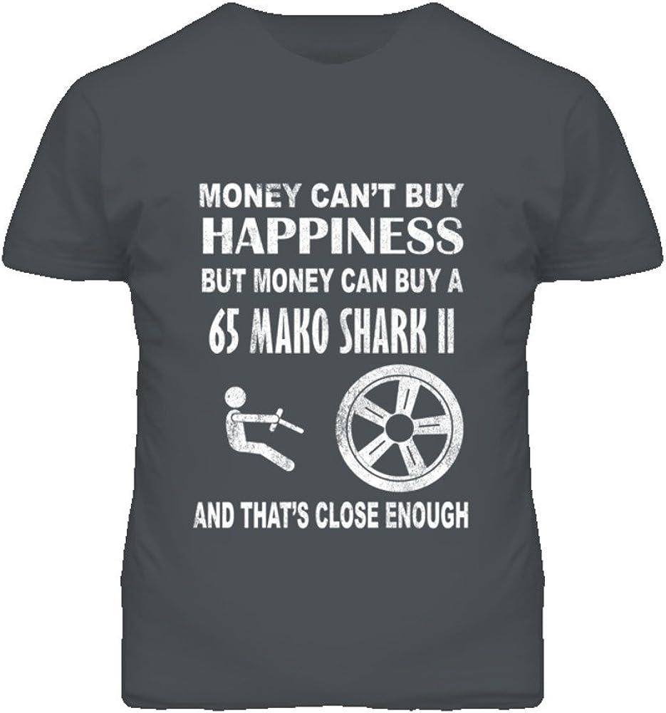 Money Cant Buy Happiness 1965 Chevy Mako Shark II Dark Distressed T Shirt