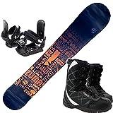 ツマ(ZUMA) 3点セット スノーボード TYPOS 金具付き ブーツ付き