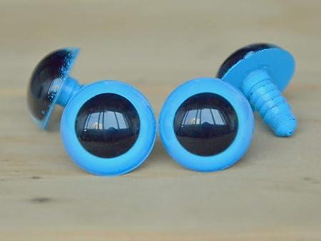 Blue safety eyes 12 mm for Amigurumi teddy bears toys animals