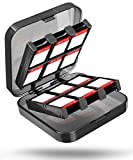 Fosmon Nintendo Switch Game Card Case, 24-in-1 [23 Cartridge Slots / 2 Detachable TF Card Slots] Game Card Holder Protection Storage Box Organizer for Nintendo Switch Games