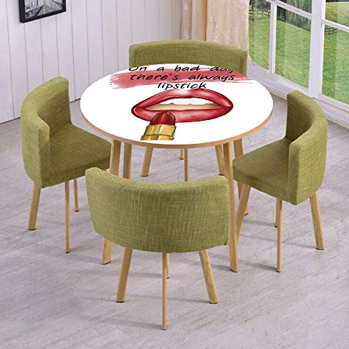 Round Table/Wall/Floor Decal Strikers/Removable/Bad Day Good Make Up Quote Sensual Beauty Charm Theme Inspirational Art Print Decorative/for Living Room/Kitchens/Office Decoration