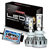 Hipro Power CREE XHP50 9005 LED Headlight Kit - 9005 - 80W 10,000LMS 6000K Diamond White for High Beam - 2 Yr Warranty