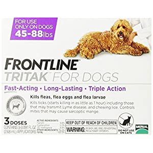 Merial Frontline Tritak Pest Control for Dogs and Puppies, 45 to 88-Pound 95