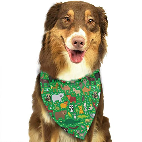 CWWJQ88 Walrus Goats Polar Bear Pattern Pet Dog Bandana Triangle Bibs Scarf - Easy to Tie On Your Dogs & Cats Pets Animals - Comfortable and Stylish Pet Accessories