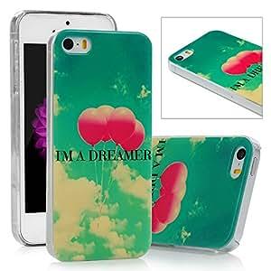 iPhone 54S Lanveni® Premium [Slim Fit] colorido pintado globo de protección de PC Duro Funda para teléfono móvil