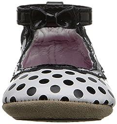 Robeez Charlotte Hard Sole Mini Shoe (Infant), Black/White, 9-12 Months M US