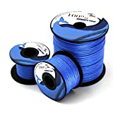 emma kites 350lb 300Ft Blue UHMWPE Kite Line String for Large Stunt Traction Kite Flying Fishing Outdoor General Purpose High Strength Excellent Resistant to Moisture UV Abrasion