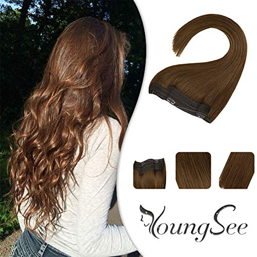 Youngsee Chestnut Brown Halo Real Hair Extensions