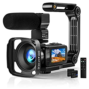 Flashandfocus.com 51qFXoVdvUL._SS300_ Video Camera 2.7K Camcorder with Microphone Ultra HD 36MP Vlogging Camera for YouTube IR Night Vision 3 Inch Touch…