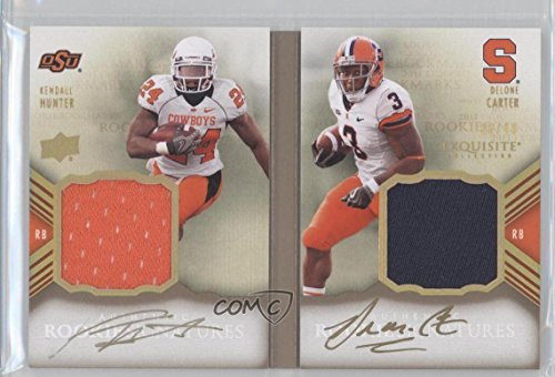 Delone Carter; Kendall Hunter #16/40 (Football Card) 2011 Upper Deck Exquisite Collection - Rookie Bookmarks #RBM-HC