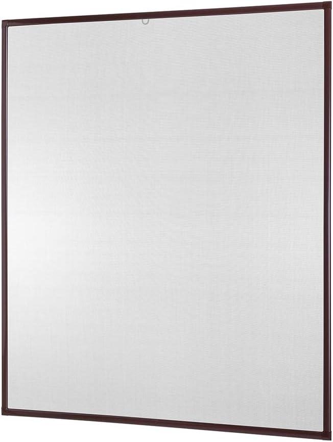 Braun und Anthrazit empasa Insektenschutz Fenster Basic 120 x 140 cm mit Alurahmen in Wei/ß Fliegengitter als Bausatz auf Ma/ß geschnitten oder komplett aufgebaut