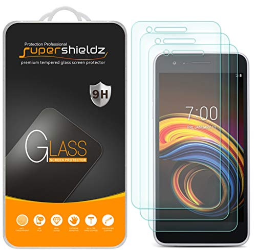 (3 Pack) Supershieldz for LG (Tribute Empire) Tempered Glass Screen Protector, Anti Scratch, Bubble Free (Empire Screen Protector)