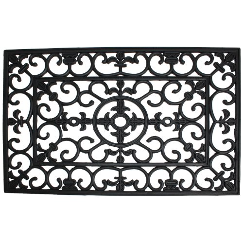 J U0026 M Home Fashions Wrought Iron Natural Rubber Doormat, 24 Inch By 36 Inch