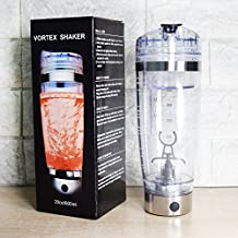 Electric Drink Mixer Vortex Tornado Shaker Bottle Free Bonus Items Great For Protein Powder and Baby Formula. Storage Cup USB Rechargeable 600ml 20Oz. Leak Proof Lid