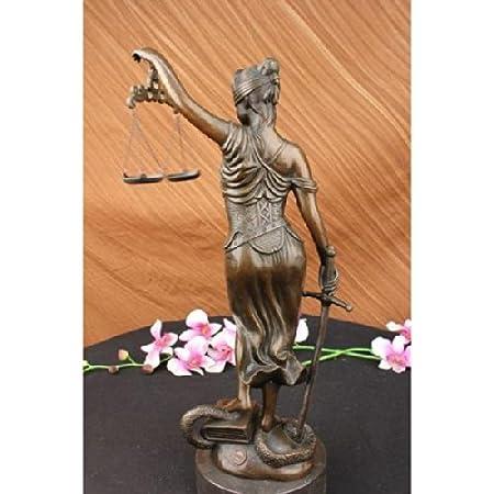 Amazon.com: Handmade European Bronze Sculpture SCALE OF JUSTICE BLIND JUSTICE CLASSICAL FIGURINE 18