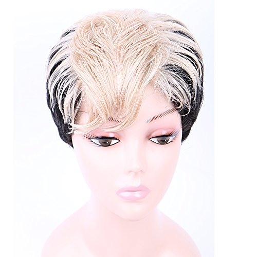 Hot 2017 New Fashion Short Wigs for Women Synthetic Wigs Full Head Nature Wave Hair