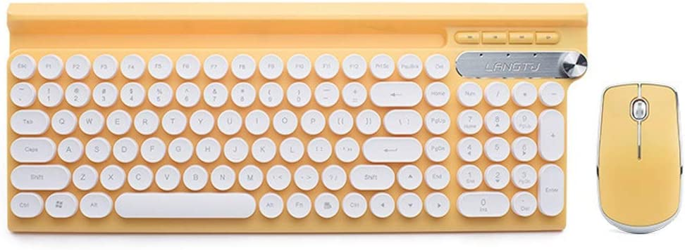 Windows Laptop Rechargeable Color : Yellow Wireless Keyboard and ...