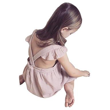 957d412ee Amazon.com  Birdfly Baby Girls Embroidered Ruffle Sleeveless ...