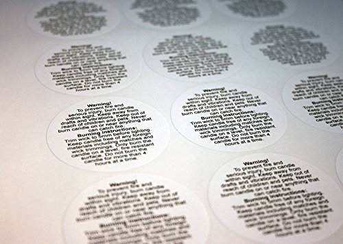 Warning Label Circles (54 candle making WARNING LABELS (small, 29mm circles) by Unknown)