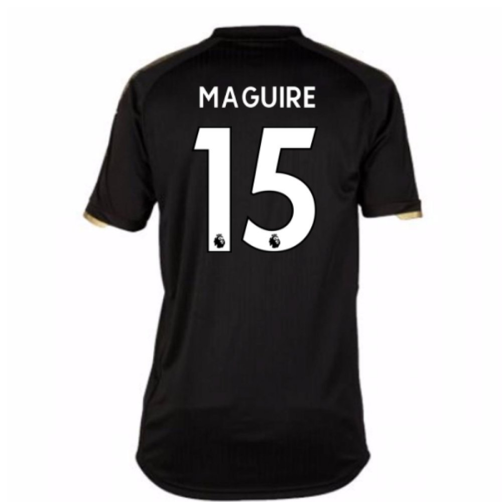 2017-18 Leicester City Away Shirt (Maguire 15) B077PKBYX1Black Large Adults