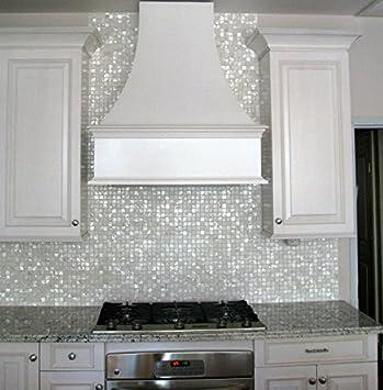 Spa piscina para azulejos ba/ño azulejos paredes Vogue carcasa Oyster de madreperla cuadrado mosaico de azulejos para cocina backsplashes