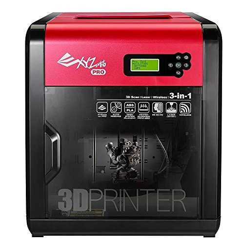 XYZprinting da Vinci 1.0 Pro 3in1 Wireless 3D Printer/Scanner 7.8x7.8x7.5, Heated Bed, Upgradable Laser Engraver, 3rd Party Filaments