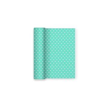 Mantel de papel ideal para fiestas de cumpleaños, aniversarios, fiestas baby shower y bautizos con decorado de Estrellas Aguamarina - 1,2 x 5 m
