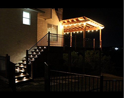 FVTLED Pack of 20 Warm White Low Voltage LED Deck lights kit Φ1.38'' Outdoor Garden Yard Decoration Lamp Recessed Landscape Pathway Step Stair Warm White LED Lighting, Black by FVTLED (Image #9)